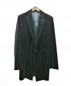 kiryuyrik(キリュウキリュウ)の古着「ベロアロングジャケット」|ブラック