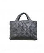 FALORNI(ファロルニ)の古着「レザーメッシュトートバッグ」|グレー