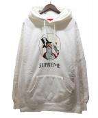 Supreme(シュプリーム)の古着「プリントプルオーバーパーカー」|ホワイト