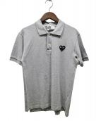 PLAY COMME des GARCONS(プレイコムデギャルソン)の古着「プレイハート刺繍ポロシャツ」|グレー