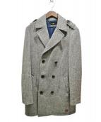 SCOTCH & SODA(スコッチアンドソーダ)の古着「ダブルツイードコート」|グレー