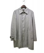 PS Paul Smith(ピーエスポールスミス)の古着「ライナー付千鳥格子ステンカラーコート」 ホワイト×ブラック