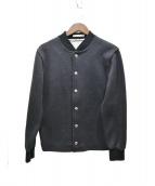 MAISON KITSUNE(メゾンキツネ)の古着「スウェットスタジャン」|ブラック