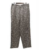 Paul Smith(ポールスミス)の古着「DOT OVER PRINT LINEN PANTS」|グレー