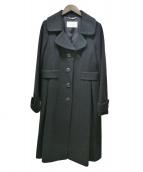 Harrods(ハロッズ)の古着「Aラインウールコート」|ブラック