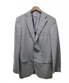 ()の古着「ストライプテーラードジャケット」 グレー