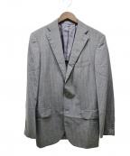 RING JACKET(リングジャケット)の古着「ストライプテーラードジャケット」|グレー