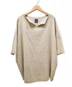 mina perhonen(ミナペルホネン)の古着「ジャガードコーデュロイチュニックドレス」 ベージュ