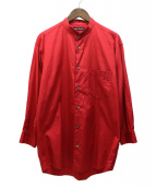 ISSEY MIYAKE(イッセイミヤケ)の古着「ウイングカラーシャツ」|レッド