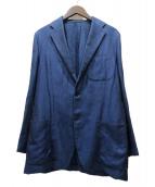 BEAMS F(ビームスエフ)の古着「リネン混3Bテーラードジャケット」|ブルー