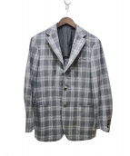 RING JACKET(リングジャケット)の古着「フランネルチェックジャケット」|グレー