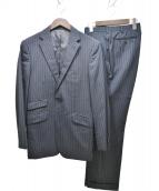 BURBERRY BLACK LABEL(バーバリーブラックレーベル)の古着「2Bストライプスーツ」 ブラック