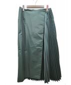 danskin(ダンスキン)の古着「プリーテッドスカート」|グリーン