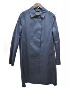 MACKINTOSH(マッキントッシュ)の古着「ゴム引きステンカラーコート」|ネイビー