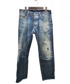 DSQUARED2(ディースクエアード)の古着「クラッシュ加工デニム」|ブルー