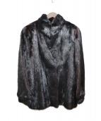 SAGA MINK(サガミンク)の古着「毛皮ハーフコート」|ブラック
