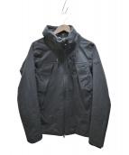 Descente ALLTERRAIN(デサント オルテライン)の古着「HARD SHELL STACK HOODED JK」|ブラック