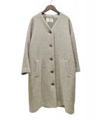 nest Robe(ネストローブ)の古着「シェットランドモッサーノーカラーコート」|ベージュ