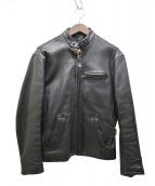 HARLEY-DAVIDSON(ハーレーダビットソン)の古着「シングルレザーライダースジャケット」|ブラック