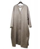 Samuji(サムイ)の古着「No Collar Coat」|ブラウン