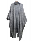 ARGUE(アギュー)の古着「モヘアウールガウンコート」|グレー