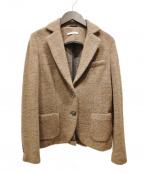 CIRCOLO 1901(チルコロ1901)の古着「ウールアルパカ2Bジャケット」 ブラウン