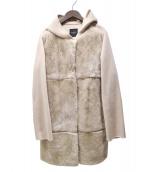 MAX MARA WEEK END LINE(マックスマーラ ウイークエンドライン)の古着「ファー切替フーデッドコート」|ベージュ