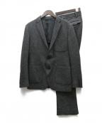 JOSEPH HOMME()の古着「カットオフジャージーツイードセットアップ」|ブラック