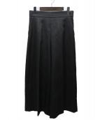 TIARA(ティアラ)の古着「19AWセンタープレスワイドパンツ」 ブラック
