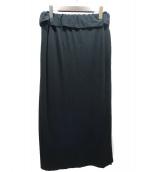 YOHJI YAMAMOTO(ヤマモトヨウジ)の古着「ワンサイドストラップイージースカート」|ブラック