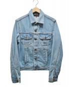 agnes b homme(アニエスベーオム)の古着「GQ48 VESTEデニムジャケット」|ブルー
