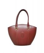 Cartier(カルティエ)の古着「ヴィンテージ マストライン ハンドバッグ」|レッド