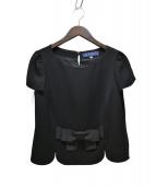 M'S GRACY(エムズグレイシー)の古着「フロントリボンブラウス」 ブラック