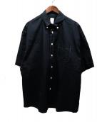 KAIKO(カイコー)の古着「19SSラガーBD半袖シャツ」 ブラック