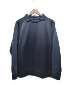 COMOLI(コモリ)の古着「襟付きPOスウェット」|ネイビー