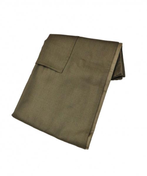 HERMES(エルメス)HERMES (エルメス) ダブルフェイスカシミヤポケットストール オリーブ サイズ:- カシミヤ100% フランス製 マルジェラ期の古着・服飾アイテム