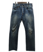 STUDIO DARTISAN(ステュディオ・ダ・ルチザン)の古着「50sリアルエイジングジーンズ」 ブルー