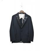 ESTNATION(エストネーション)の古着「ジャージタキシードジャケット」|ブラック