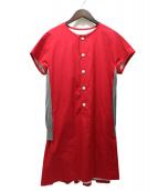 SCYE(サイ)の古着「シルクコットンウェザーレイヤードニットドレス」|レッド