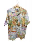pataloha(パタロハ)の古着「90'Sヴィンテージサベージ柄アロハシャツ」|マルチカラー