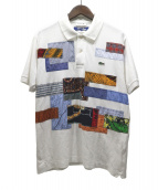 JUNYA WATANABE CDG(ジュンヤワタナベコムデギャルソン)の古着「パッチワークポロシャツ」|ホワイト