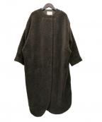 ARGUE(アギュー)の古着「ボアロングコート」|ブラウン