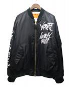 LONELY/論理(ロンリー)の古着「#12VAZVERT MA-1ボンバージャケット」 ブラック