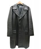 Schott(ショット)の古着「レザーチェスターコート」|ブラック