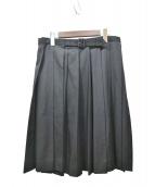 YohjiYamamoto pour homme(ヨウジヤマモトプールオム)の古着「10SSウールギャバープリーツラップスカート」|ブラック