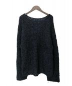 ISSEY MIYAKE Permanente(イッセイミヤケ ペルマネンテ)の古着「皺加工シルククルーネックニット」|ブラック