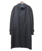 CORNELIANI(コルネリアーニ)の古着「ヘリンボーンバルマカーンコート」|グレー