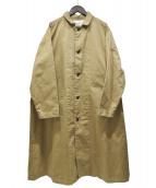 HARVESTY(ハーベスティー)の古着「チノクロスオーバーコート」|ベージュ