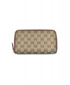 GUCCI(グッチ)の古着「ラウンドファスナー長財布」|ブラウン