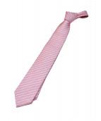BVLGARI(ブルガリ)の古着「アイビーストライプ柄ネクタイ」|ピンク